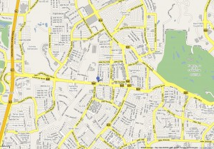 Damansara Reformed Baptist Church Overview Map