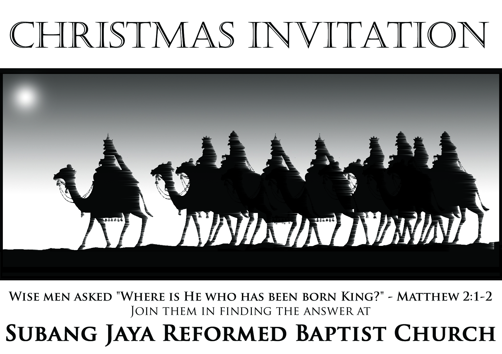 invitation christmas service at subang jaya reformed baptist church